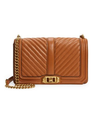 Rebecca Minkoff love chevron quilted leather crossbody bag