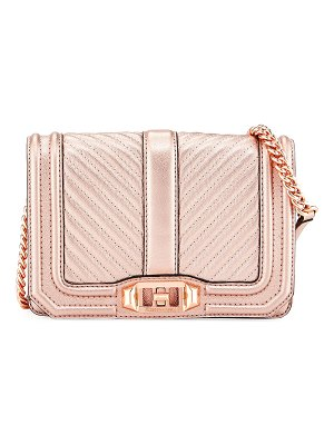 Rebecca Minkoff Love Small Quilted Metallic Leather Crossbody Bag