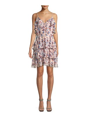 Rebecca Minkoff Marla Floral-Print Ruffle Mini Dress