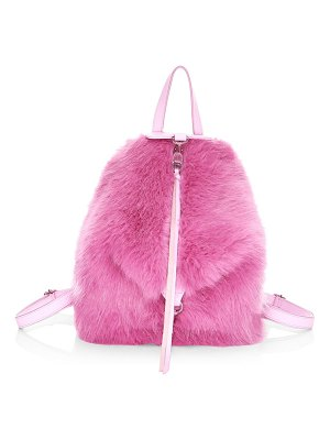 Rebecca Minkoff mini julian convertible faux fur backpack