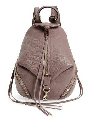 Rebecca Minkoff mini julian pebbled leather convertible backpack