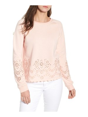 Rebecca Minkoff morgan scalloped eyelet sweatshirt