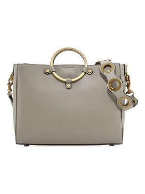 REBECCA MINKOFF Ring Leather Satchel Bag