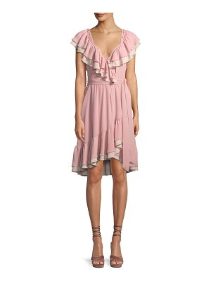 REBECCA MINKOFF Sarah Ruffle Wrap Knee-Length Dress