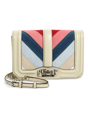REBECCA MINKOFF Small Love Chevron Patchwork Crossbody Bag