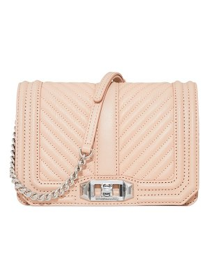 Rebecca Minkoff small love chevron-quilted leather crossbody bag
