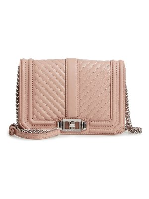 Rebecca Minkoff small love leather crossbody bag