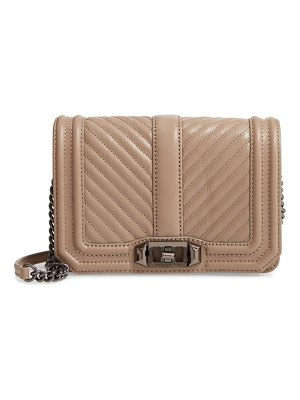 Rebecca Minkoff small love quilted leather crossbody bag