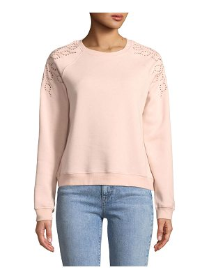 REBECCA MINKOFF Zoe Embroidered Pullover Sweatshirt