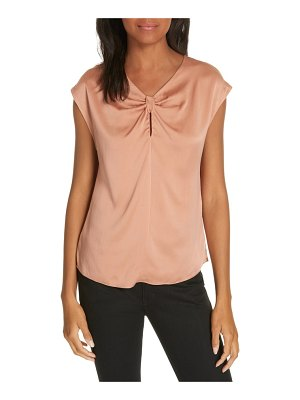 Rebecca Taylor charmeuse knot silk top