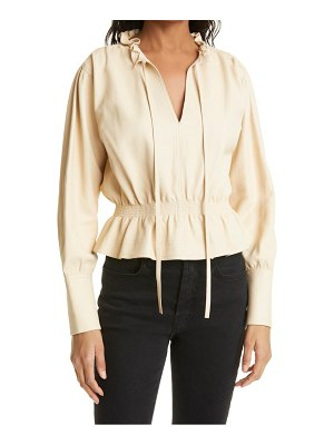 Rebecca Taylor glove leather blouse