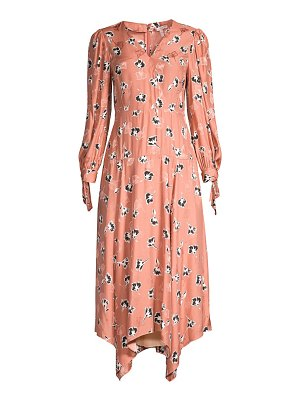 Rebecca Taylor paintbrush stretch-silk midi dress