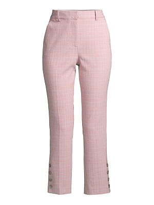Rebecca Taylor rose plaid trousers