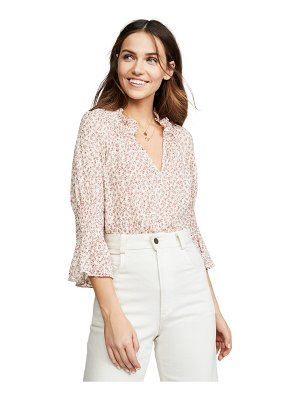 Rebecca Taylor short sleeve francesca ruffle top