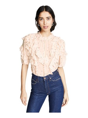 Rebecca Taylor short sleeve glitter top