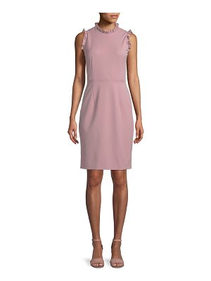 REBECCA TAYLOR Spring Ruffle Sleeveless Sheath Dress