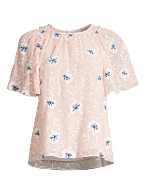 Rebecca Taylor trellis embroidered top