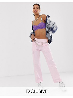 Reclaimed Vintage revived utility pants in washed pink