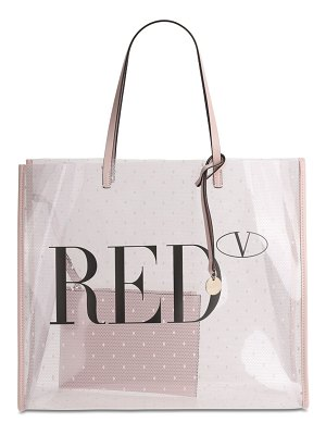 RED V Logo printed pvc tote bag