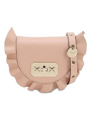 Red Valentino Ruffled leather shoulder bag