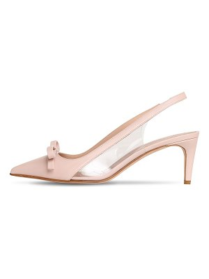 Red Valentino 60mm sandie leather sling back pumps