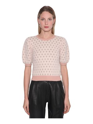Red Valentino Angora blend lurex intarsia sweater