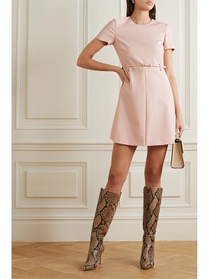 Red Valentino belted crepe mini dress