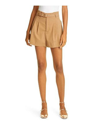 Red Valentino belted paperbag shorts