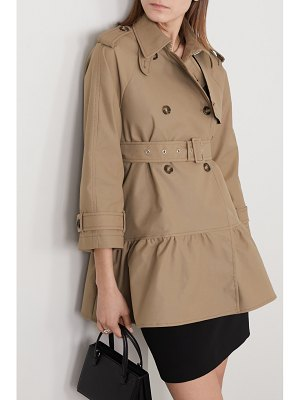 Red Valentino belted tiered gabardine trench coat