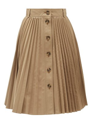 Red Valentino buttoned pleated skirt