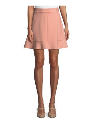 Red Valentino Cady Side-Buckle Tech Skirt
