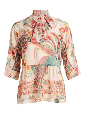 Red Valentino camicia bird-print blouse