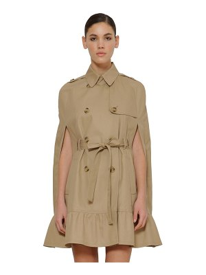 Red Valentino Cotton cape trench coat