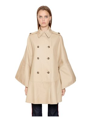 Red Valentino Double breasted cotton cape trench coat