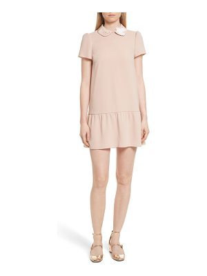 RED VALENTINO Drop Waist Crepe Dress