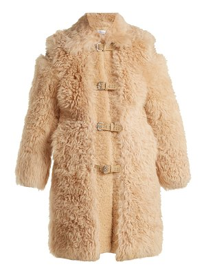 Red Valentino Embellished shearling coat