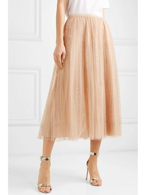 Red Valentino fil coupé tulle midi skirt