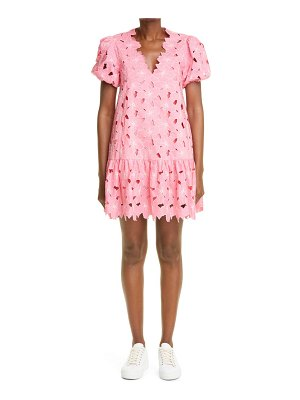 Red Valentino floral embroidered shift minidress