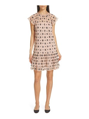 Red Valentino floral sequin drop waist dress