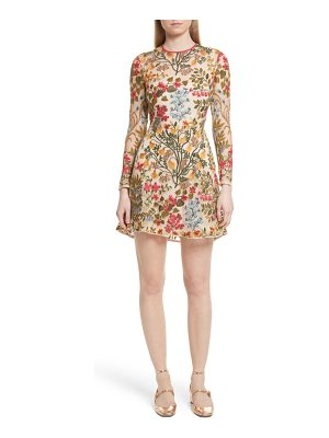 RED VALENTINO Floral Vine Embroidered Tulle Dress