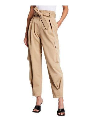 Red Valentino High-Waist Belted Cargo Pants