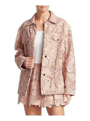 Red Valentino macrame floral jacket