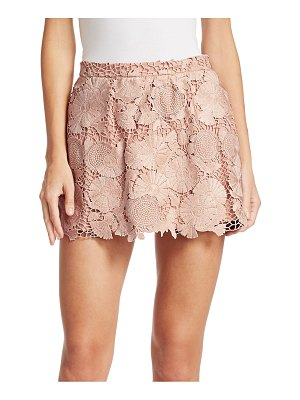 Red Valentino macrame floral shorts