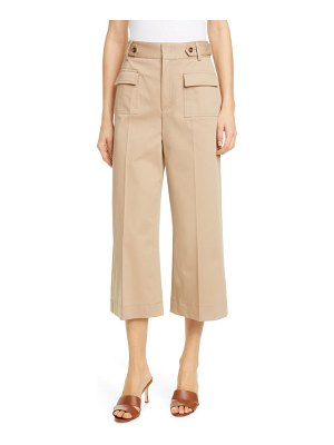 Red Valentino patch pocket wide leg crop pants