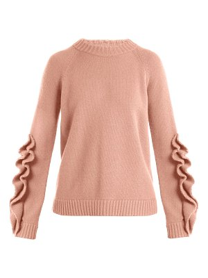 Red Valentino Ruffle-trim wool sweater