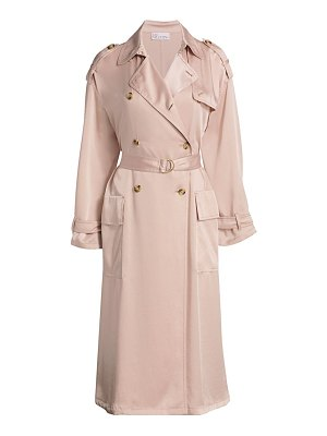 Red Valentino satin trench coat
