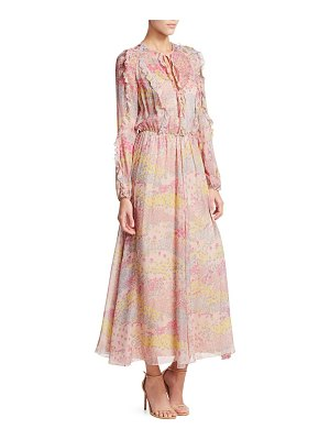 Red Valentino star maxi dress