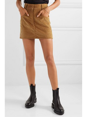 RE/DONE 90s ultra high rise western pocket cotton-corduroy mini skirt