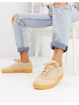 Reebok club c sneakers in beige and gum-cream