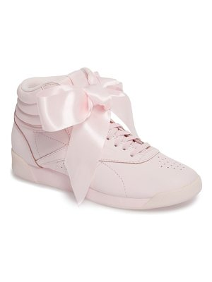 REEBOK Freestyle Hi Satin Bow Sneaker